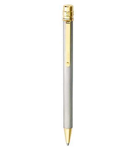 CARTIER 桑托斯德 Cartier 18 ct-黄金及钢圆珠笔