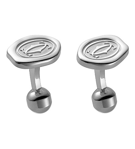 CARTIER Wax seal decor cufflinks
