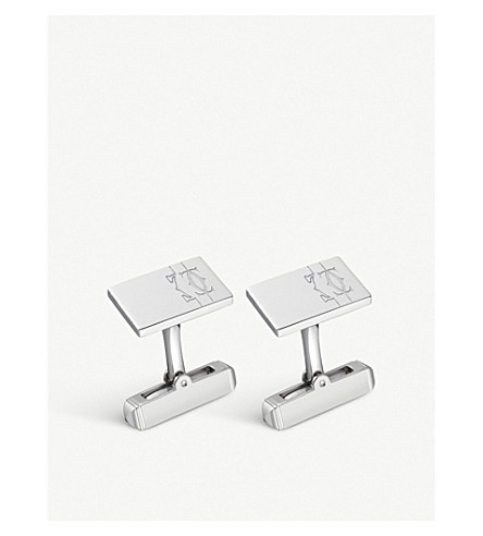CARTIER Lines and Logo decor cufflinks