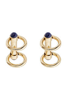 CARTIER Double ring decor gold cufflinks