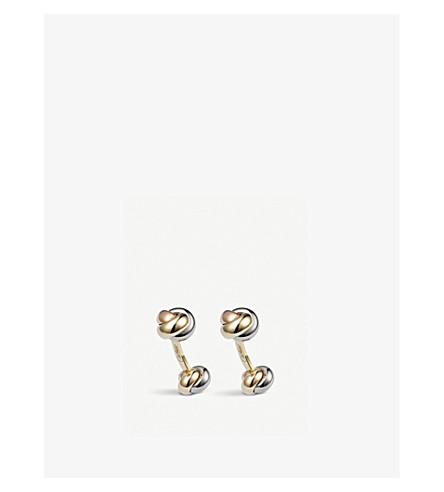 CARTIER Trinity classic gold cufflinks