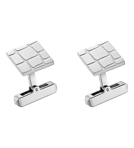 CARTIER Crocodile scale décor cufflinks