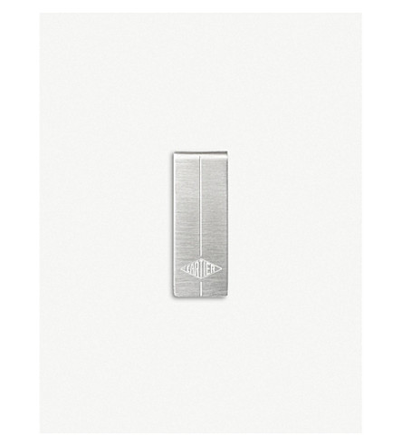 CARTIER Lozenge engraved money clip