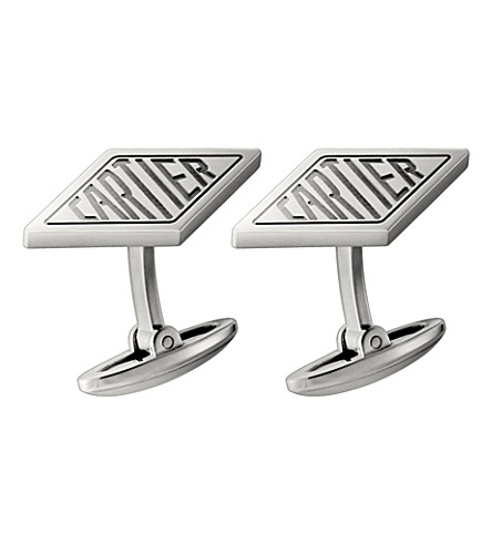 CARTIER Palladium-finish diamond cufflinks (Palladium+finish