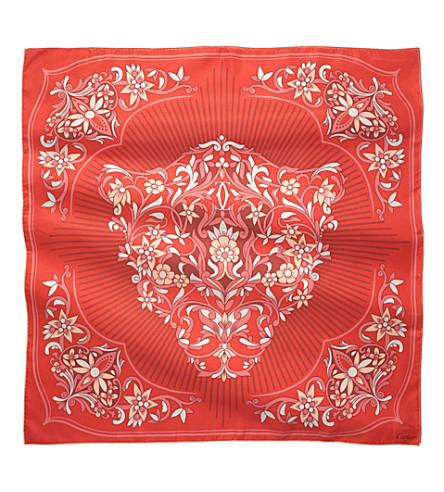 CARTIER Panther silk scarf (Pink