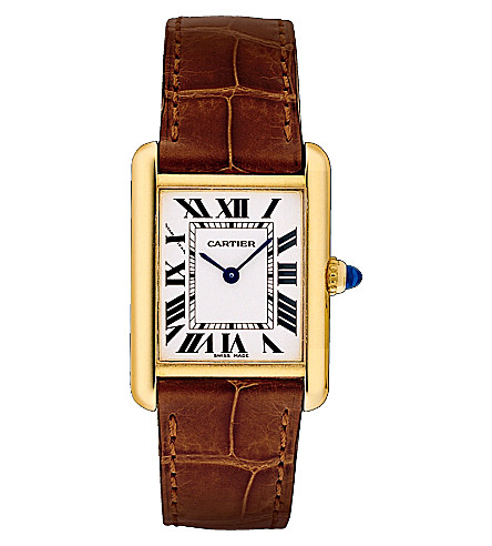 CARTIER Tank Louis 18ct yellow-gold and steel small watch