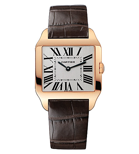 CARTIER Santos Dumont 18ct white-gold small watch
