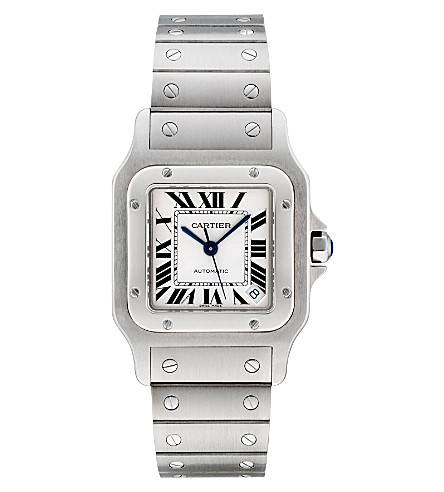 CARTIER Santos de Cartier Galbée stainless steel extra-large watch