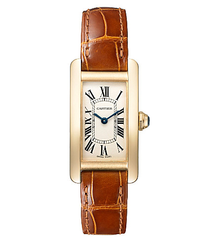 CARTIER Tank Américaine 18ct yellow-gold small watch