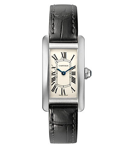 CARTIER Tank Américaine 18ct white-gold small watch