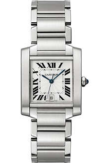 CARTIER Tank Française stainless steel large watch