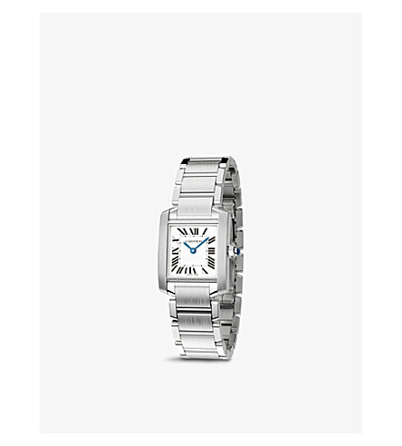 CARTIER Tank Française steel small watch