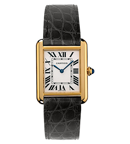 CARTIER Tank Solo 18ct yellow-gold and steel small watch
