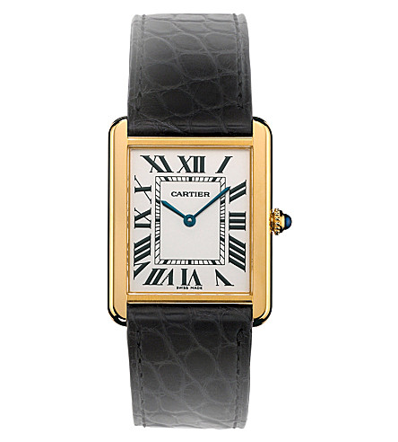 CARTIER Tank Solo 18ct yellow-gold and steel large watch