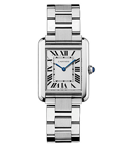 CARTIER Tank Solo stainless steel small watch