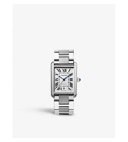 CARTIER Tank Solo stainless steel extra-large watch