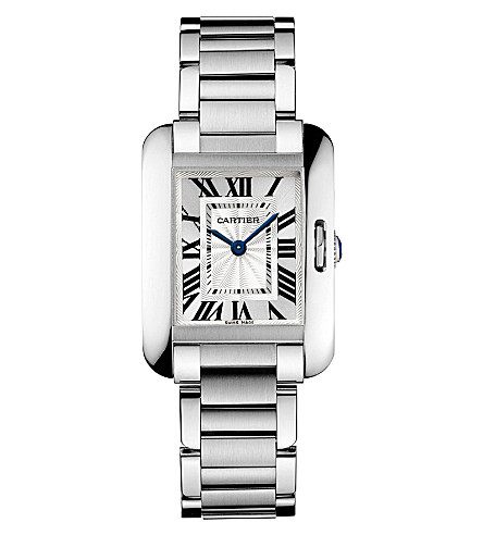 CARTIER Tank Anglaise stainless steel small watch