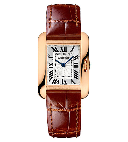 CARTIER Tank Anglaise 18ct pink-gold small watch