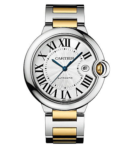 CARTIER Ballon Bleu de Cartier 18ct yellow-gold and steel watch