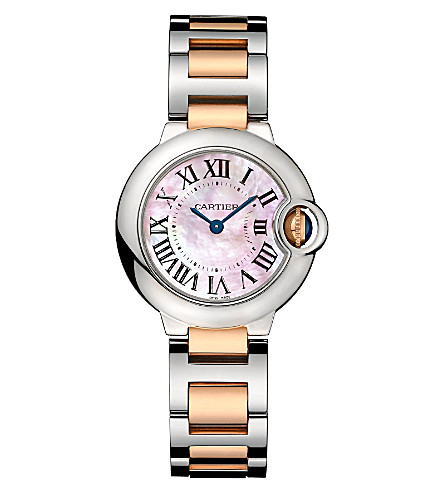 CARTIER Ballon Bleu de Cartier 18ct pink-gold and steel watch