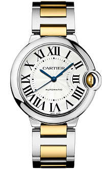 CARTIER Ballon Bleu de Cartier gold and stainless steel watch 36mm