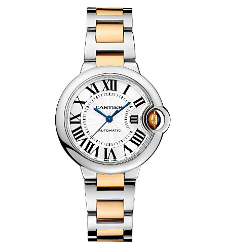 CARTIER Ballon Bleu de Cartier 18ct yellow-gold and stainless steel watch