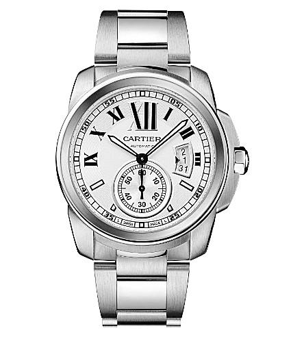 CARTIER Calibre de Cartier stainless steel watch