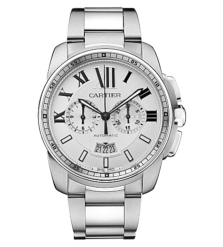 CARTIER Calibre de Cartier stainless steel watch