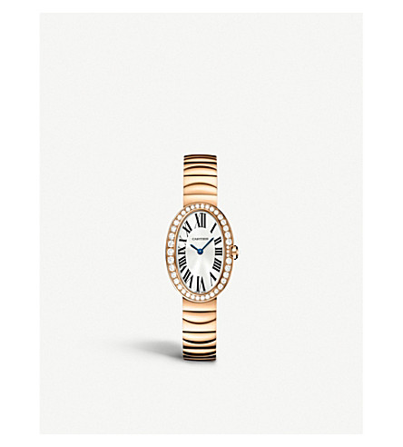 CARTIER Baignoire 18ct pink-gold small watch