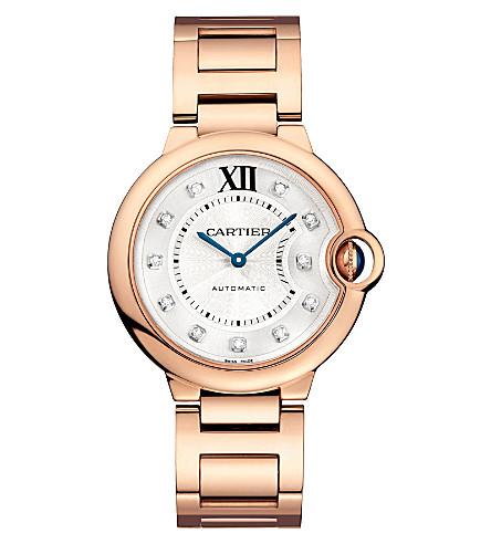 CARTIER Ballon Bleu de Cartier 18ct pink-gold and diamond watch