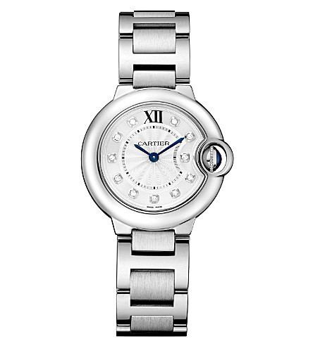 CARTIER Ballon Bleu de Cartier stainless steel and diamond watch