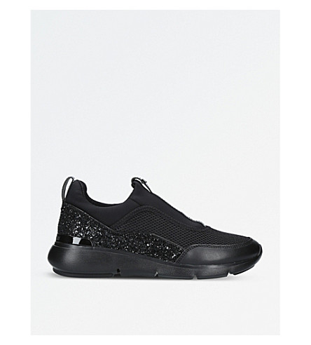 MICHAEL MICHAEL KORS Ace neoprene and sequin trainers (Black