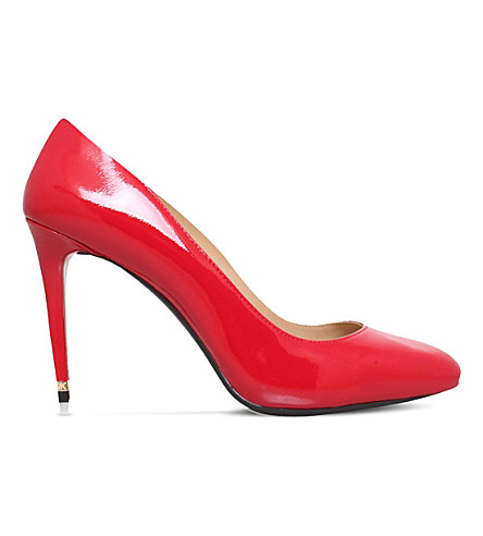 MICHAEL MICHAEL KORS Ashby flex patent-leather courts (Red