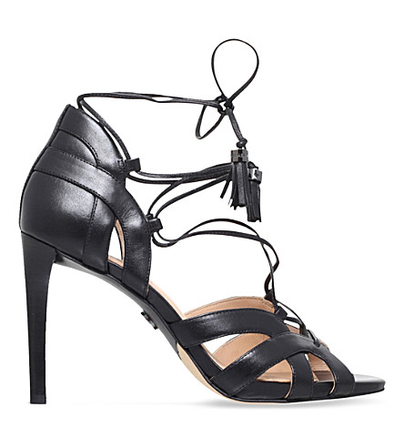 MICHAEL MICHAEL KORS Mirabel leather heeled sandals (Black