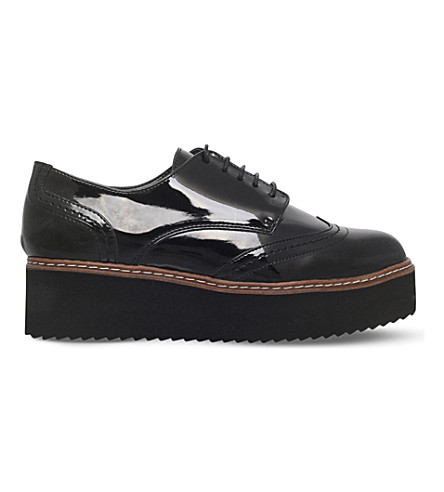 CARVELA 透明专利平台鞋履 (黑色