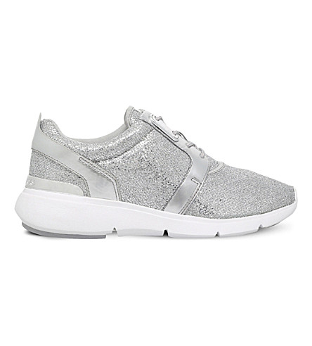 ... MICHAEL MICHAEL KORS Amanda glitter trainers (Silver. PreviousNext