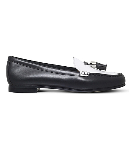 MICHAEL MICHAEL KORS Callahan two-tone leather loafers (Blk/white