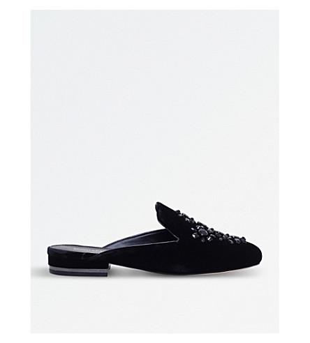 MICHAEL MICHAEL KORS Edie embellished velvet mules (Black