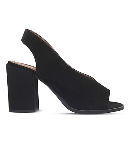 CARVELA Arlo peep-toe suede court shoes (Black