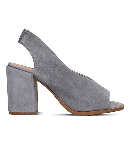 CARVELA Arlo peep-toe suede court shoes (Grey