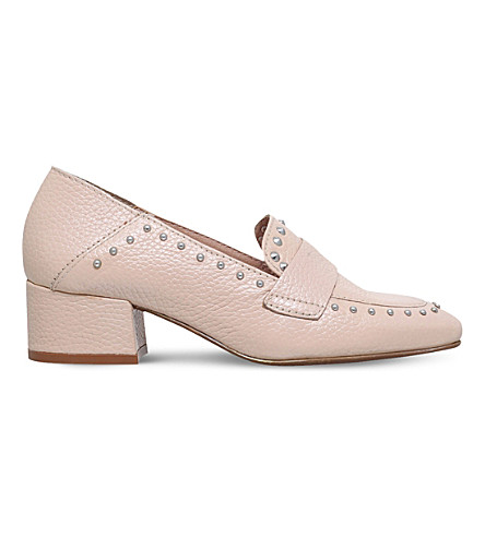 KG KURT GEIGER Keekee studded leather loafers (Pink