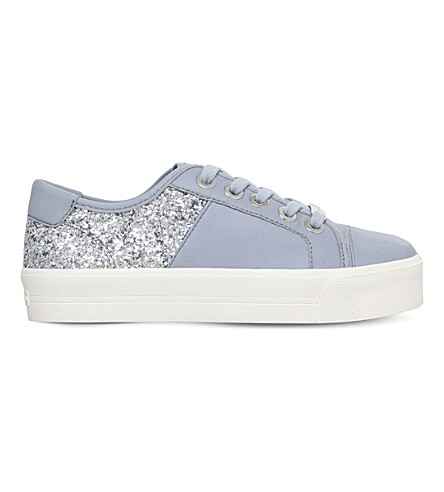 CARVELA Louise leather and glitter trainers (Grey/other