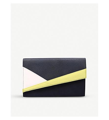 MISS KG Heidi colour-block suedette clutch bag (Mult/other