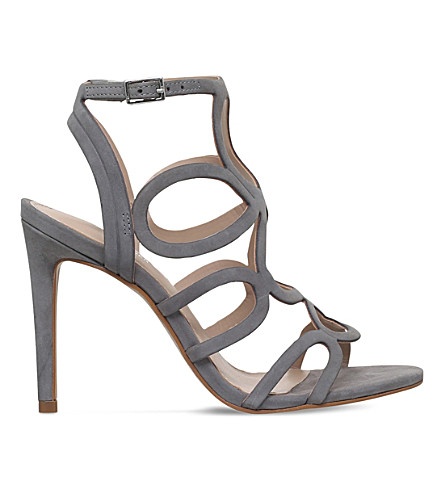 CARVELA Gabby caged suede sandals (Grey