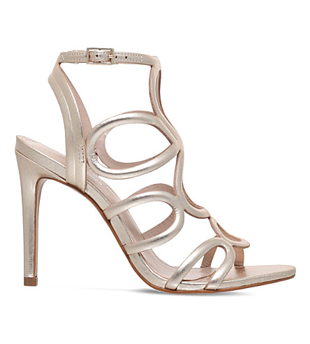 CARVELA Gabby caged metallic sandals (Gold