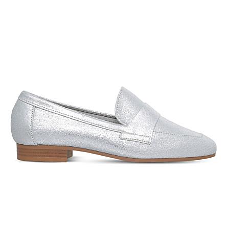 KG KURT GEIGER Keisha metallic leather loafers