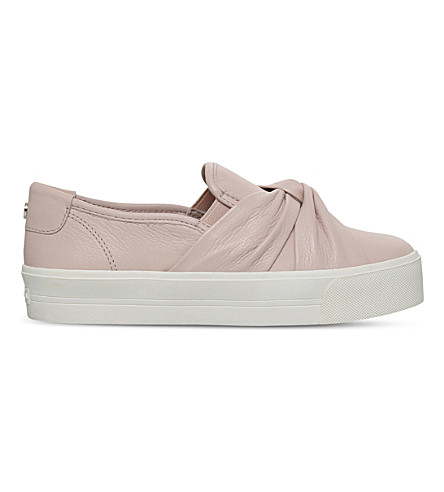 CARVELA Loren leather knotted trainers (Nude