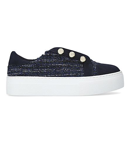 KG KURT GEIGER Orla tweed flatform sneakers (Blue+other