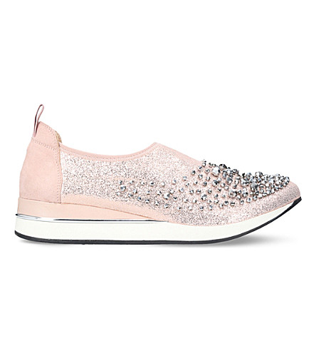 KG KURT GEIGER Ophelia textile slip-on shoes (Metal+comb