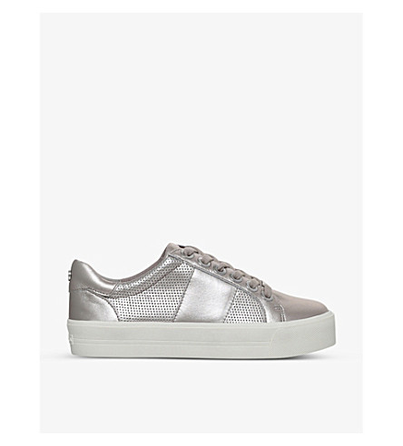 CARVELA Lint leather trainers (Pewter